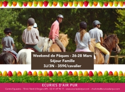 Weekend de Pâques 26-28 Mars